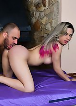Natalia Castro is a sexy Brazilian Grooby girl with a sexy smooth body, big boobs, a juicy ass and a rock hard cock! Watch this hot transgirl getting