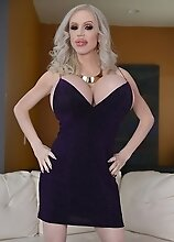 Purple with huge tits shemale Juliette Stray will keep you company during the lockdown