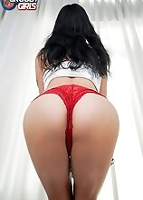 Bella Vie returns for some naughty solo fun! Watch her showing off her sexy body and perfect ass, getting her cock hard and stroking it!