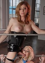 Filthy TMILF Jasmine Jewels playing with her slave
