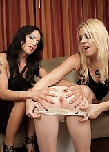 TS Mandy Mitchell dominated by Hollie and Foxxy
